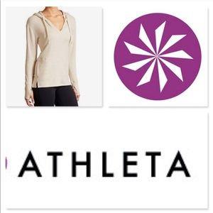 ATHLETA Studio split v-neck hoodie